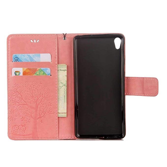 #1 Rose Bear Village/® /Étui en Cuir Sony Xperia XA1 Ultra Multi-Usage Magnetique Portefeuille avec Gratuit Protection D/écran en Verre Tremp/é Coque pour Sony Xperia XA1 Ultra
