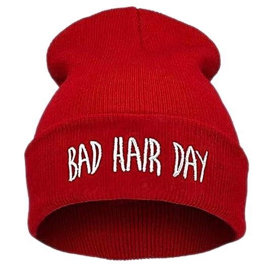 f42e89d5022 Amazon.com  Azude Red Beanie Hat Women Winter Knit Skull Hats  Home ...
