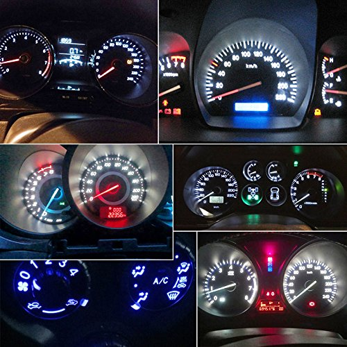 10-Pack . Boodlied Super Bright T5 Led Bulb 3030 SMD Chipsets Canbus Error Free Led Bulbs For Auto Instrument Speedo Gauge Cluster 37 73 74 79 17 57 LED Lights Bulb,Red,