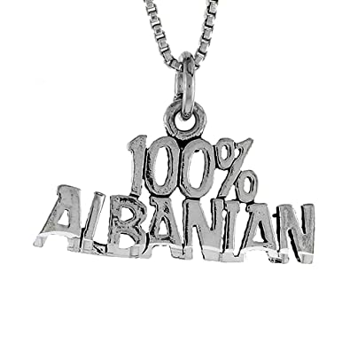 Sterling silver 100 albanian word necklace w 46cm box chain sterling silver 100 albanian word necklace w 46cm box chain aloadofball Gallery
