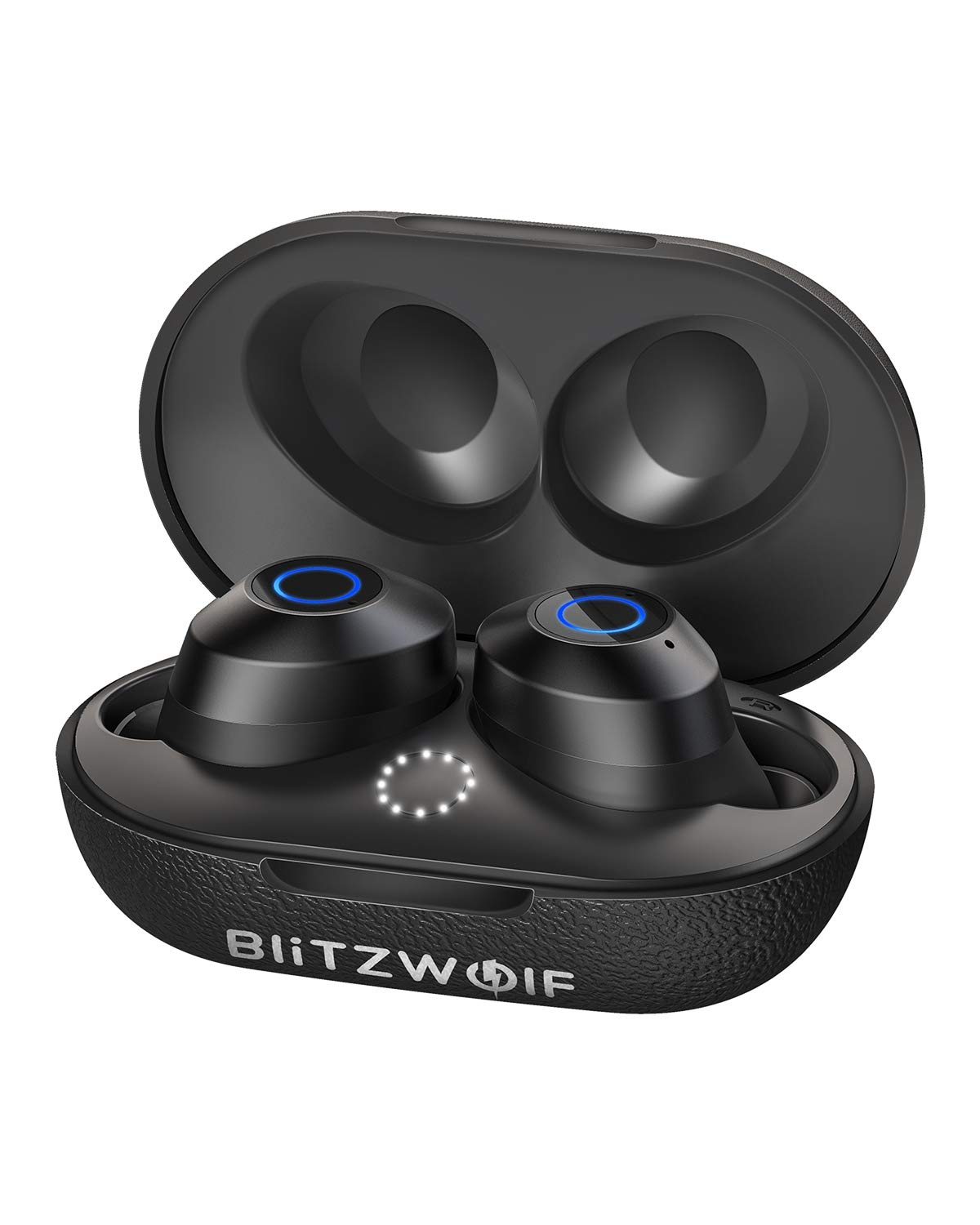 Wireless Earbuds, BlitzWolf Deep Bass Bluetooth 5.0 Mini Earbuds, True Wireless Stereo Sound Bluetooth Headphone with Portable Charging Case and Built-in Microphone, One-Step Pairing, IPX6 Waterproof