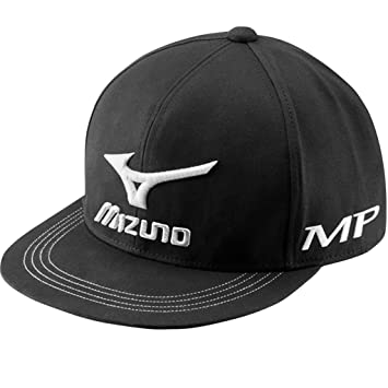 ecd70892b40 Mizuno Golf 2018 Mens Flat Bill Snapback Adjustable Cap Black ...