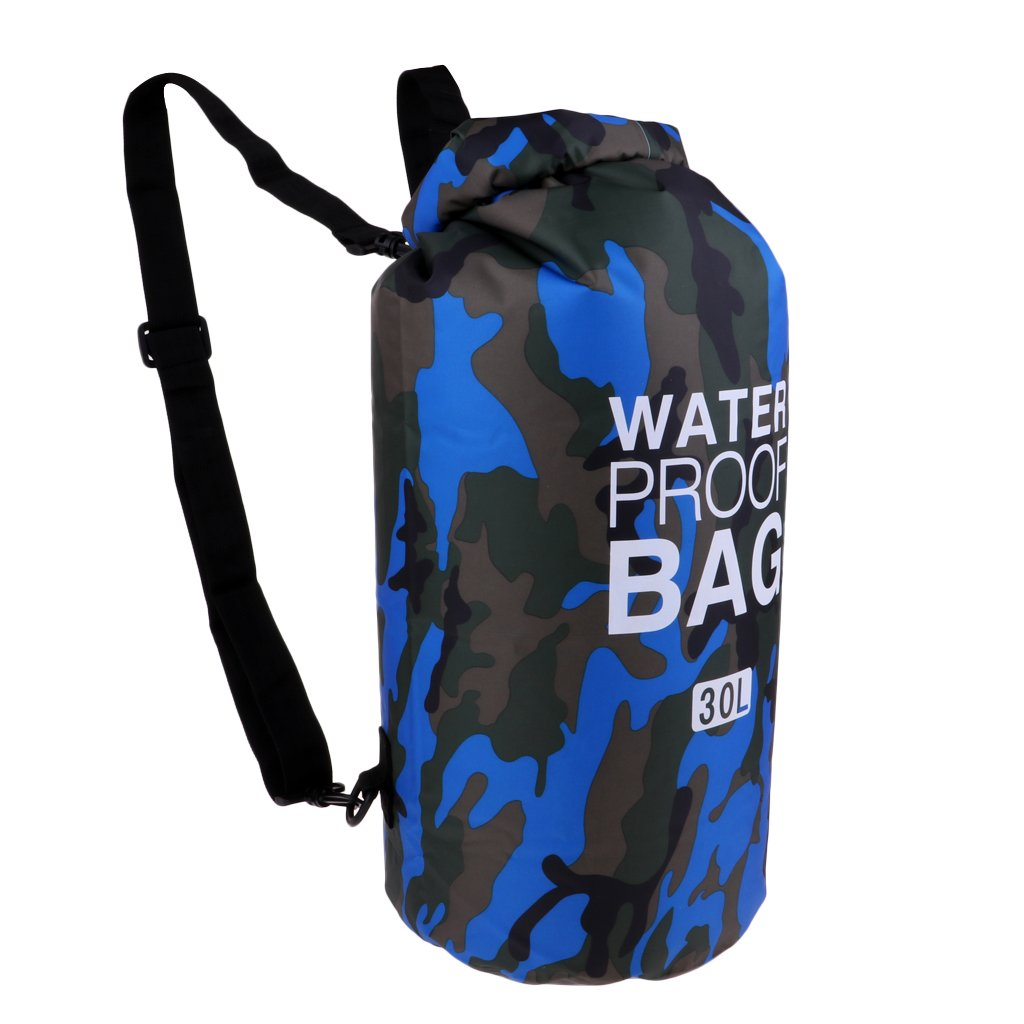 Amazon.com  Prettyia 30L Lightweight Camo Waterproof Bag Outdoor Stylish  Outdoor Dry Sack Backpack for Men   Women - Camo Blue  Sports   Outdoors 444d392255af9
