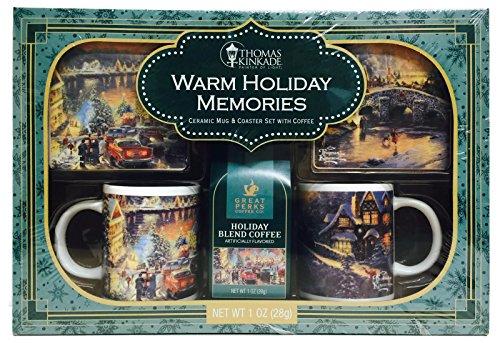 Thomas Kinkade Warm Holiday Memories Ceramic Mugs & Coast...