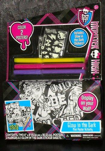 Monster High Glow in the Dark mini Poster Activity (Monster High Gigi)