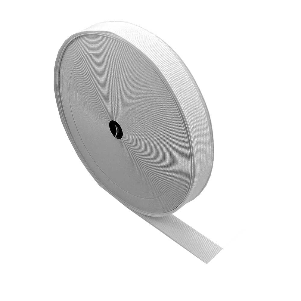 20mm (0.75 inch) Wide Flat Elastic Waistband Tape for Dressmaking / Sewing / DIY Crafts - White - 8 metres The Bead Shop