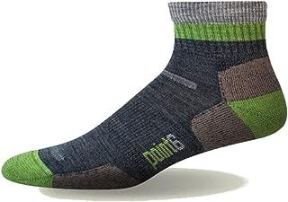 product image for Point6 Block Stripe Light Mini Sock - Gray Medium