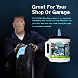 "Sellars 55208 Toolbox Shop Towels Dispenser Bucket, 12"" Length x 10"" Width, Blue"