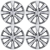 BDK KT-1042- amking1 Silver Hubcaps Wheel Covers for Toyota Corolla 16' - Four (4) Pieces Corrosion-Free & Sturdy - Full Heat & Impact Resistant Grade - Replacement, 4 Pack
