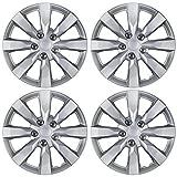 BDK Toyota Corolla Style Hubcaps 16'' Wheel Covers - 2014 Model Replica Cover, Silver, 4 Pieces