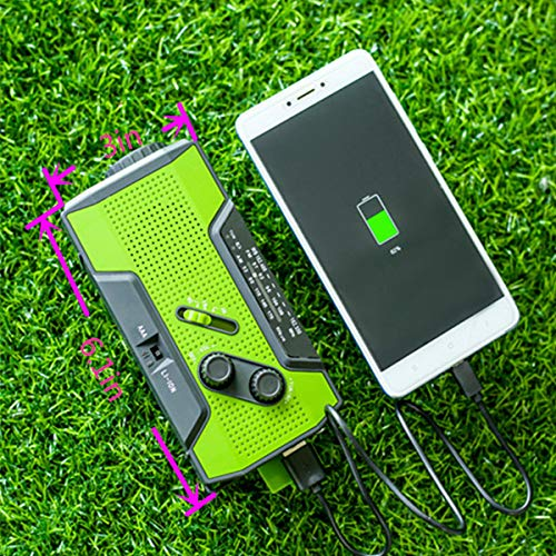 Emergency Weather Solar Crank AM/FM NOAA Radio, with 2000 mA Rechargeable Power Reading Lamp Led Flashlight SOS Alarm USB Charging Multi-Function Design for All Kinds of Emergency Situations. by JU FENG (Image #4)