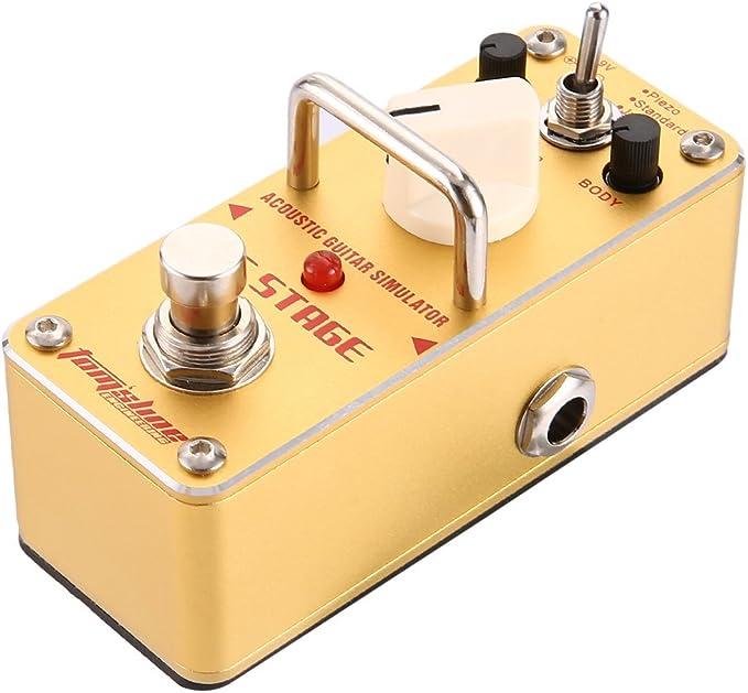 Aroma AAS-3 AC Stage Guitarra acústica Simulador Pedal de efectos ...