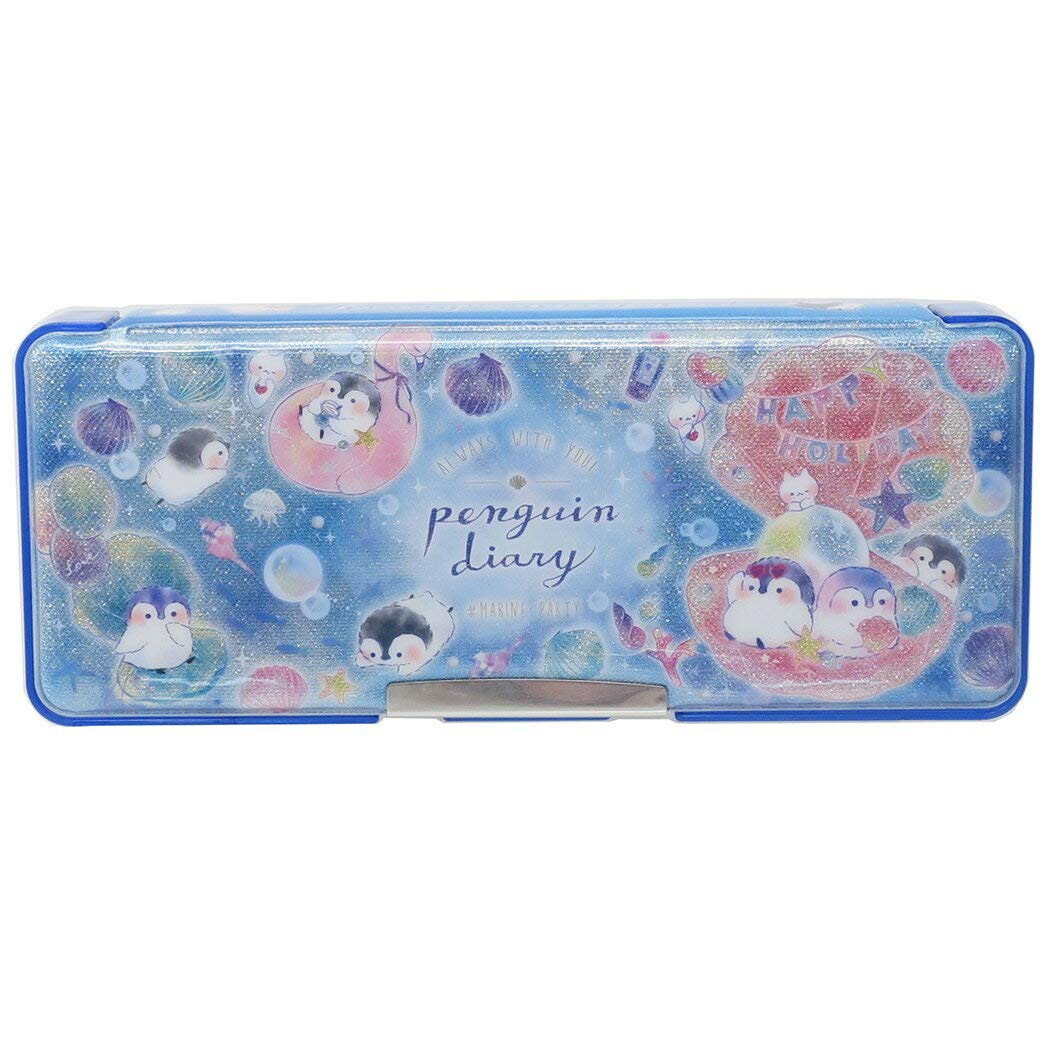 PENGUIN DIARY Kisekae both sides open soft pencil case
