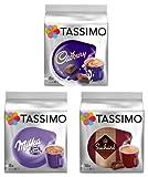 Tassimo T Discs Pods: HOT CHOCOLATE PACK - MILKA, CADBURY, SUCHARD 32 PODS