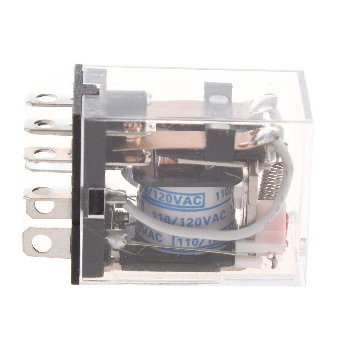 Rele electromagnetico - SODIAL(R)JQX-13FL CA 110V Bobina DPDT 8-Pin 8P Rele de potencia electromagnetico
