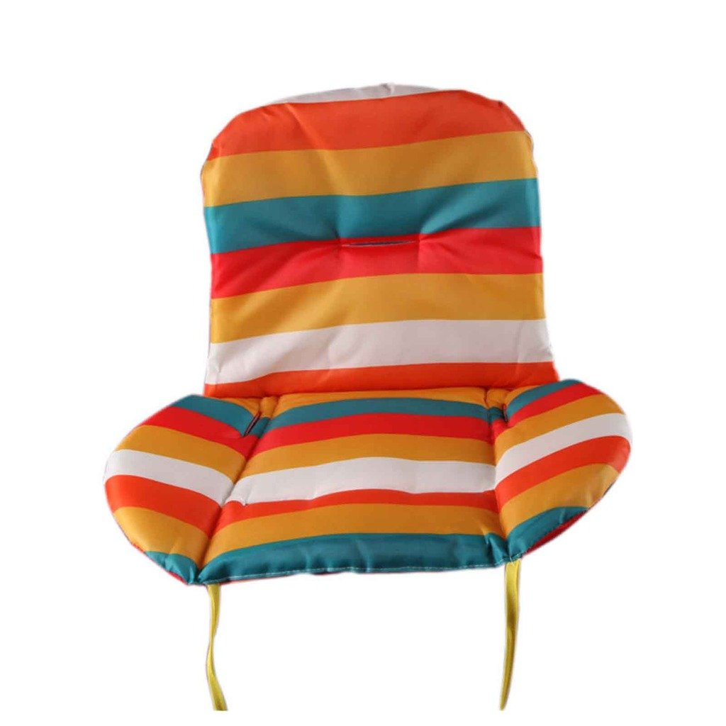 Gogogo 1X Baby Infant Support Cushion Rainbow Striped Liner Pad Mat for Car Seat Stroller Random Color