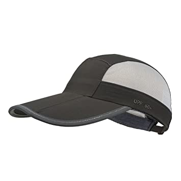 Folding series, Dark Grey GADIEMENSS Quick Dry Sports Hat Lightweight Breathable Soft Outdoor Running Cap