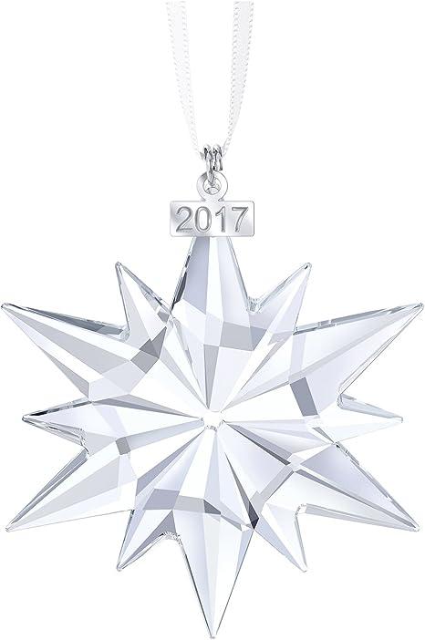 Swarovski Christmas Ornament, Annual Edition 2017 Figurine, Crystal,  Transparent, 6.1 x 0.9 x 7.7 cm, 1 Unit
