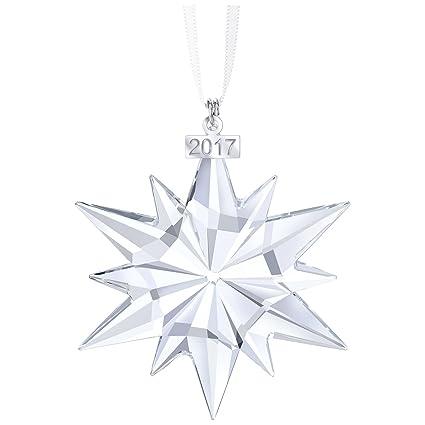 8f3a66d4a282a Swarovski Christmas ornament, annual edition 2017 figurine, crystal,  transparent, 6.1 x 0.9 x 7.7 cm, 1 Unit