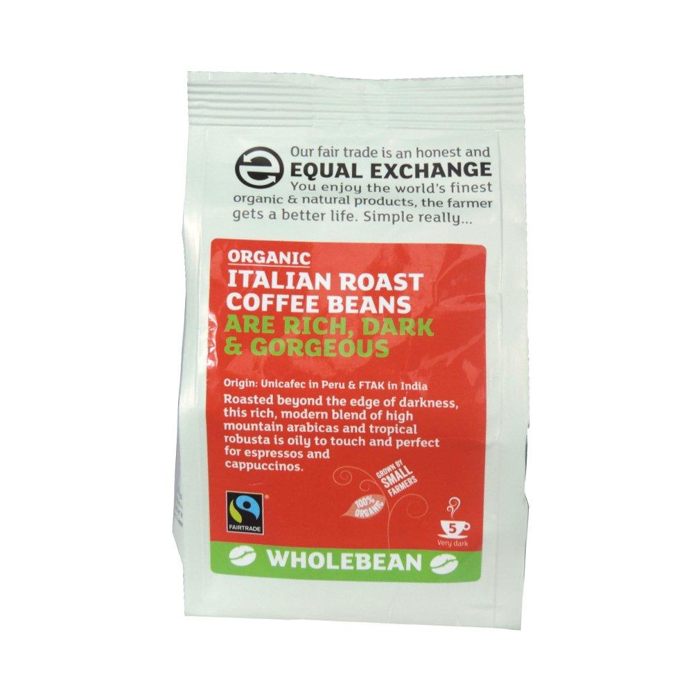 Equal Exchange - Italian Roast Fresh Coffee Beans - 227g (Case of 8)
