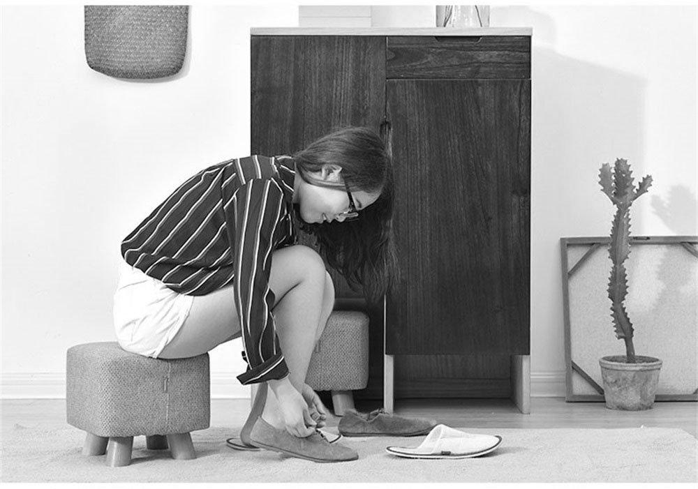LQQ-Taburetes Zapatos de Madera Maciza de Moda Taburete tapizado tapizado Taburete Cuadrado sofá bajo Taburete reposapiés pequeño Asiento reposapiés Silla para el Pasillo (Color : 2) 2d42d7