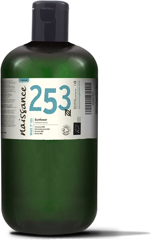 Naissance Aceite Vegetal de Girasol BIO 1Litro - 100% puro, certificado ecológico, vegano y no OGM …