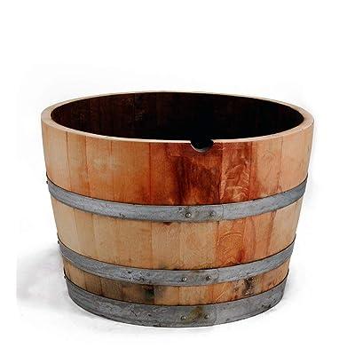 "MGP Water Tight Half Wine Barrel Planter, 26"" X 18"" X 26"" : Outdoor Decorative Fences : Garden & Outdoor"