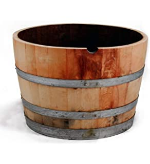 Amazon.com : Real Wood Products HWB Half Oak Whiskey Barrel Planter on wooden arbors, wooden bells, wooden toys, wooden chairs, wooden bookends, wooden plates, wooden plows, wooden bird houses, wooden benches, wooden pavers, wooden pedestals, wooden troughs, wooden garden, wooden trellis, wooden decking, wooden rakes, wooden bollards, wooden bird feeders, wooden greenhouses, wooden home,