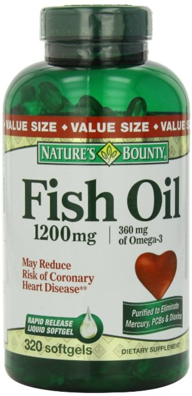 Nature's Bounty Omega-3 Fish Oil 1200 mg Softgels 320 ea (Pack of 11)