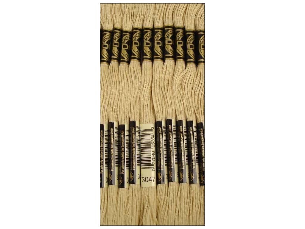 Lightyellowbeige Bulk Buy  DMC Thread Six Strand Embroidery Cotton 8.7 Yards Medium Beaver Grey 117647 (12Pack)