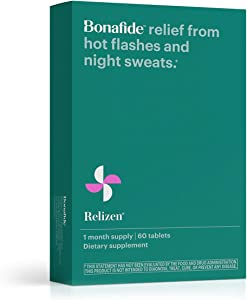 Bonafide – Relizen for Menopause Relief – Hot Flashes – Non-Hormonal, Drug-Free – 60 Tablets