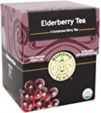 Organic Elderberry Tea - Kosher, Caffeine-Free, GMO-Free - 18 Bleach-Free Tea Bags