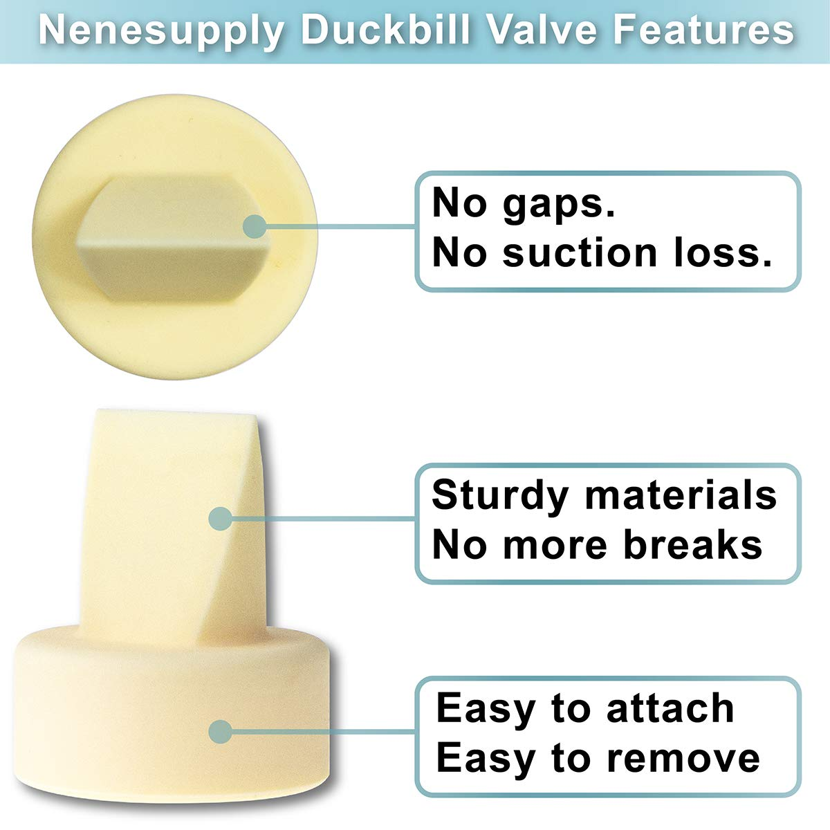 6pc White Nenesupply Compatible Duckbill Valves for Spectra S1 Spectra S2 and Medela Pump in Style Not Original Spectra Pump Parts Replace Spectra Duckbill Valve