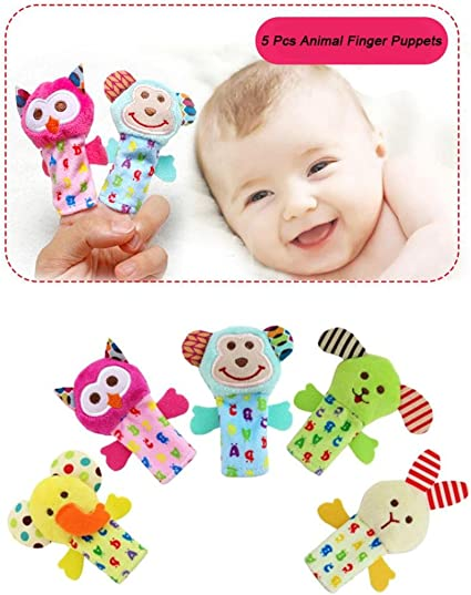 Multi-color Baby Kids Toy Play Game Learn Cute Mini Dinosaur Finger Puppets