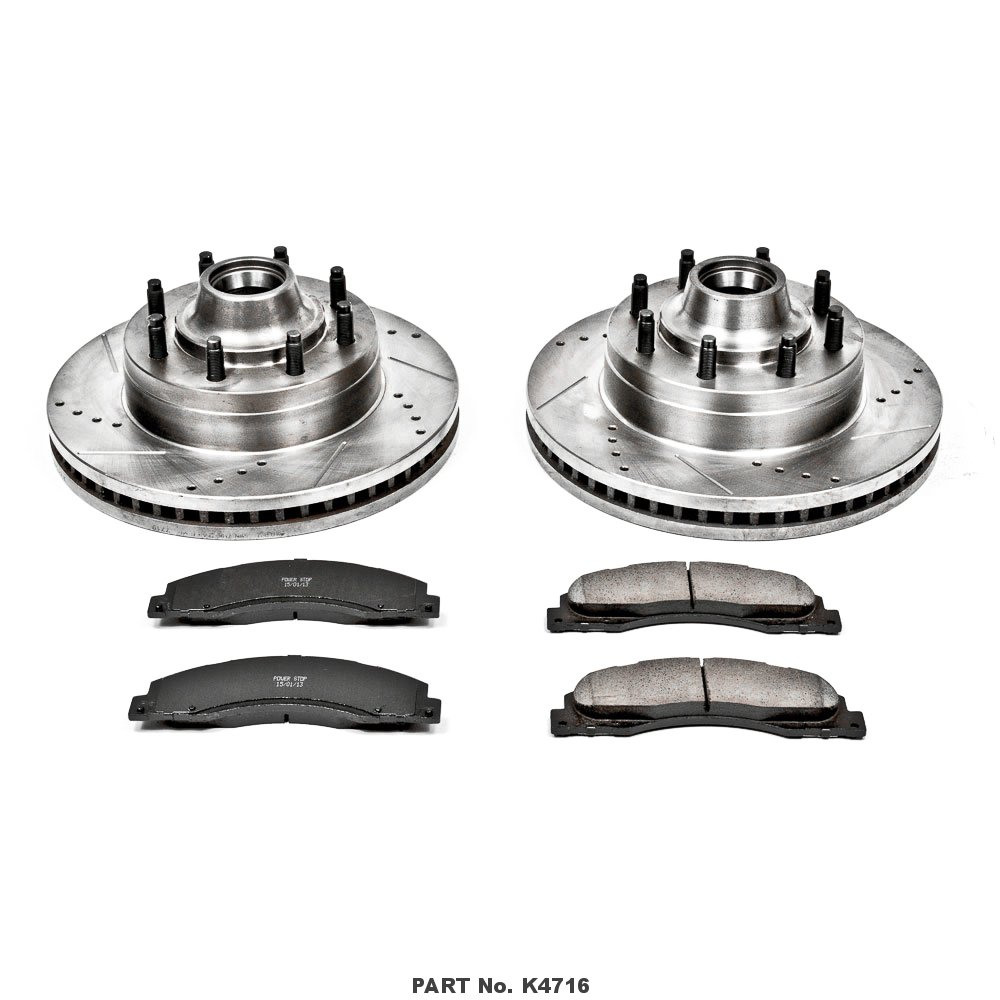 Power Stop K4716 Front Brake Kit with Drilled//Slotted Brake Rotors and Z23 Evolution Ceramic Brake Pads