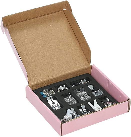 OverTop - Juego de 11 prensatelas para máquina de Coser doméstica ...