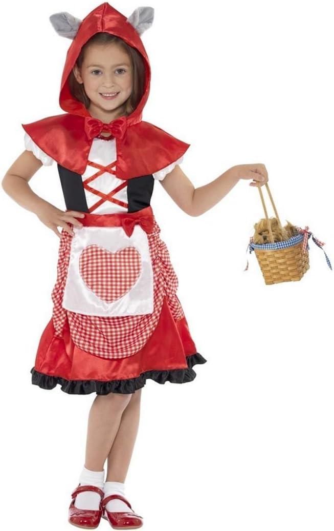 NET TOYS Disfraz de niña Caperucita Roja o Cuentos de Hadas Traje ...