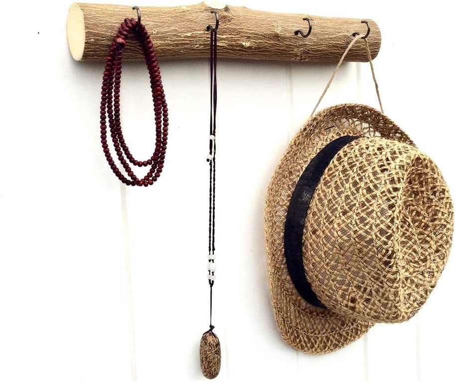 LIHUA Gancho para Ropa - Estilo nórdico con Ramas Decorativas de Cuero Gancho Abrigo Porche B & B Tienda de Ropa B&B Percha (Color : 4hooks)