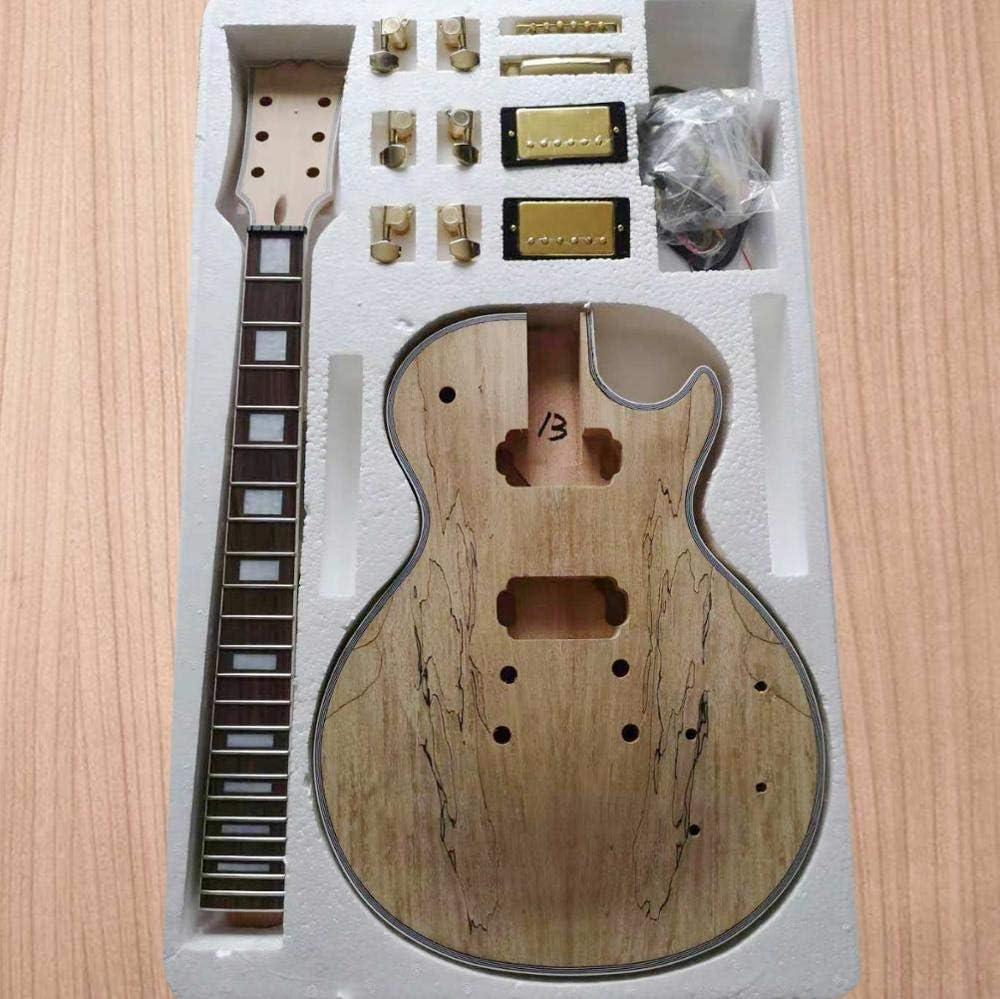 DIY LP Style Guitarra Eléctrica Paleta de Arce VENEER + caoba ...