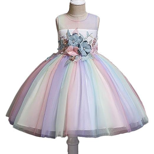 Vestido Fiesta Niña Arco Iris Vestido de Fiesta Princesa ...
