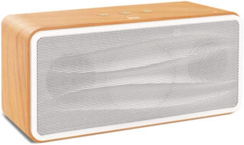 Apariencia Exquisita Altavoz Bluetooth for Dormitorio al Aire Libre, Altavoz Bluetooth inalámbrico estéreo Mejorado de Madera 3 Colores Opcionales Diseño portátil (Color : Light Wood)