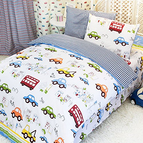 MeMoreCool Home Textile Cute Cartoon Cars Design Upscale ...