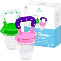 Baby Fruit Feeder Pacifier (2 Pack) - Fresh Food Nibbler, Infant Fruit Teething...