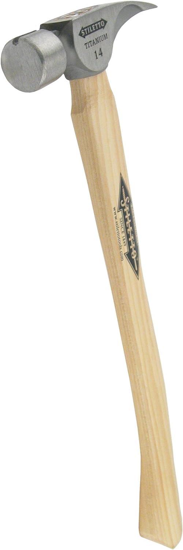 B000022661 Stiletto Tools Inc TI14SC Titan 14 Oz Titanium Framing Hammer With Curved Handle 61kuBej5bkS.SL1500_