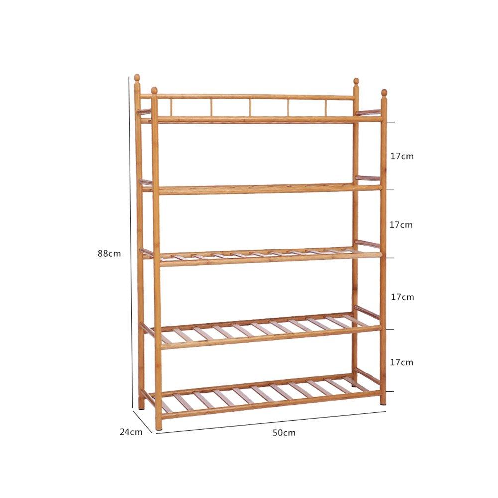 YNN 竹製の家庭用靴ラック木製5段廊下、バスルーム、リビングルーム、ベッドルームと回廊 (サイズ さいず : 50*24*88cm) B07DYL1WVJ50*24*88cm