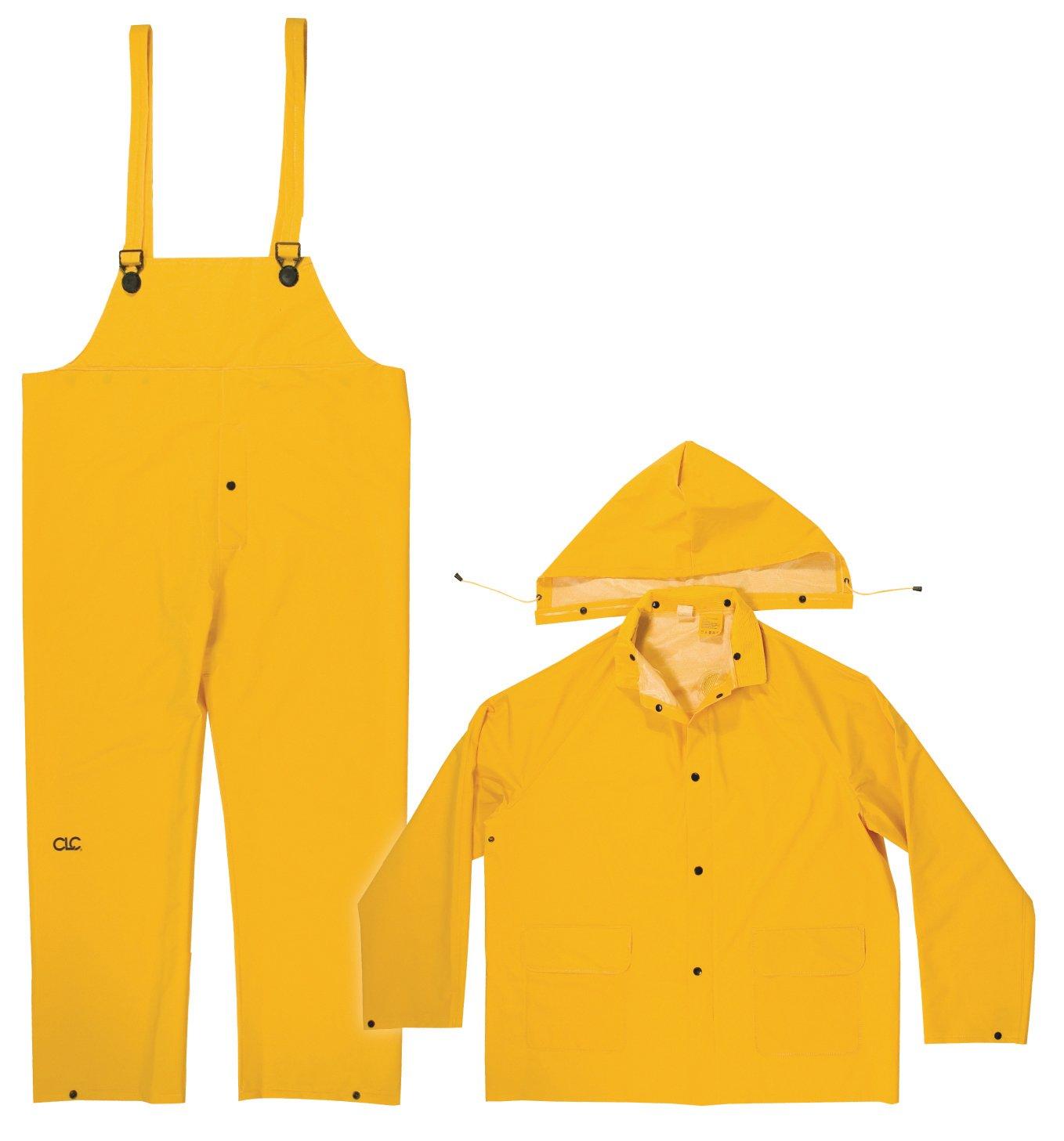 CLC Custom Leathercraft Rain Wear .35MM 3-Piece Rain Suit Yellow - 4XLarge R1014X