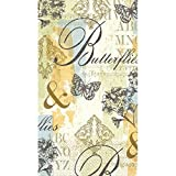 Amscan Butterfly Collage Guest Towels Party Disposable Tableware and Supply, Paper, 2 Ply, 8'' x 4'', Pack of 16.