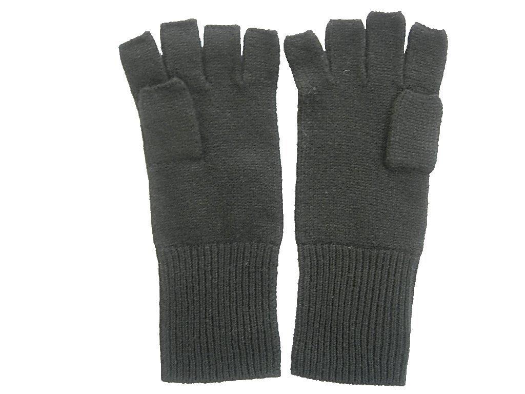 Black Pure 100% Cashmere Fingerless Half Finger Gloves by Feeling Pampered (Image #1)