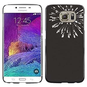 Be Good Phone Accessory // Dura Cáscara cubierta Protectora Caso Carcasa Funda de Protección para Samsung Galaxy S6 SM-G920 // new years black white fireworks 4'th