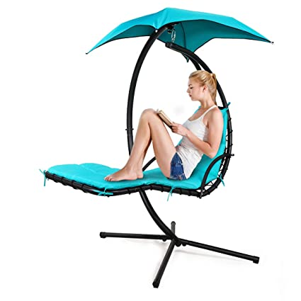 Amazing Amazon Com Jaxpety Outdoor Hanging Curved Chaise Lounge Uwap Interior Chair Design Uwaporg